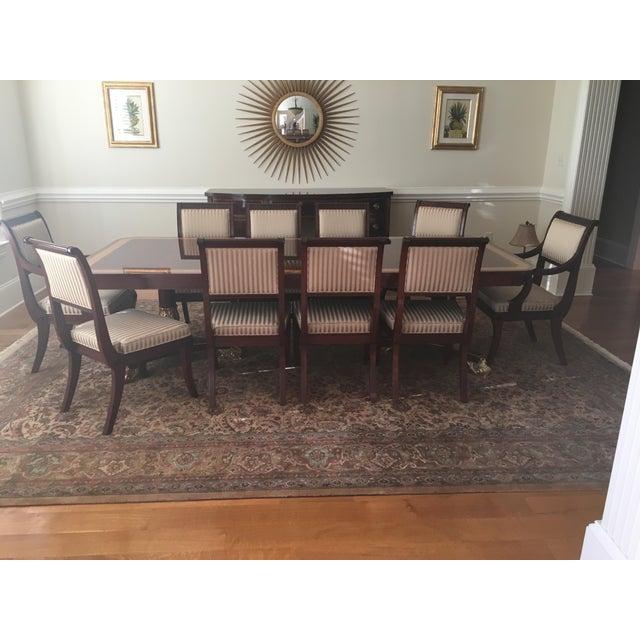 Baker Mahogany Dining Set - Set of 11 - Image 5 of 5