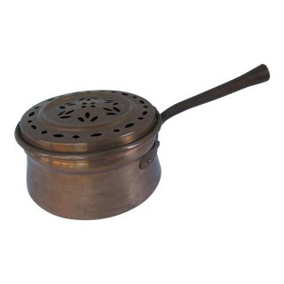 Antique Copper Chestnut Roaster