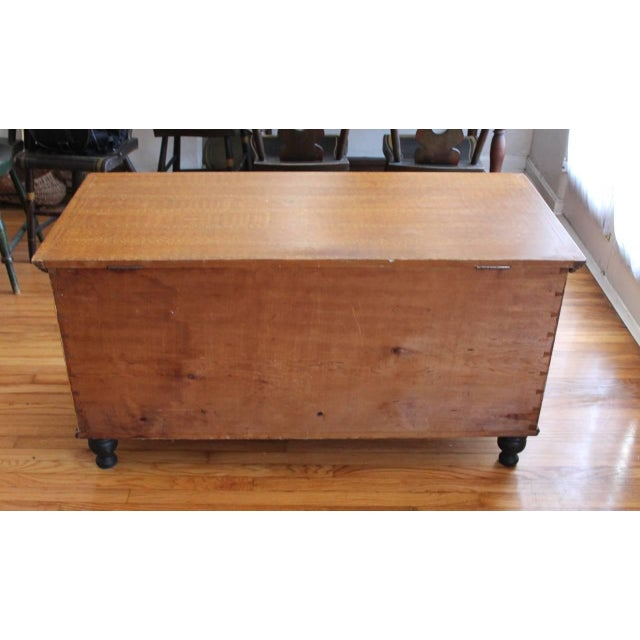 Image of 19th Century Original Sponge Paint Decorated Blanket Chest from Pennsylvania
