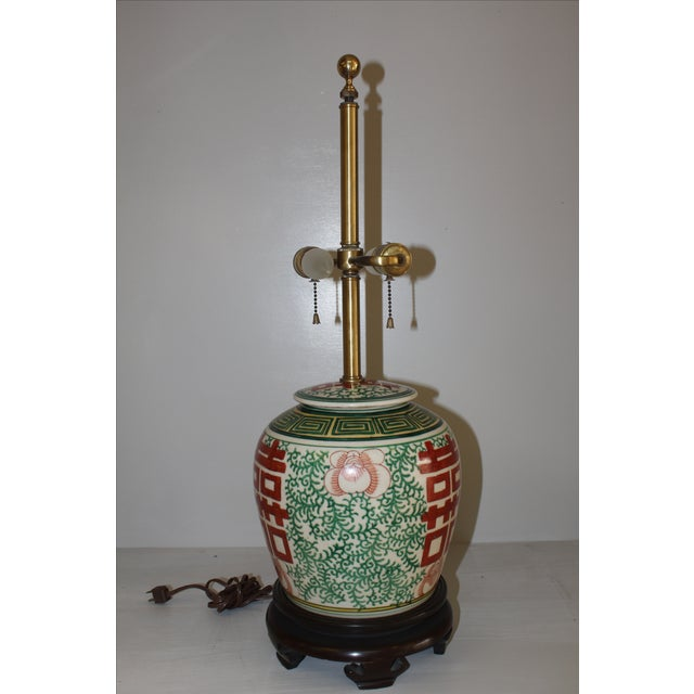Norman Perry Ginger Jar Lamp - Image 4 of 5