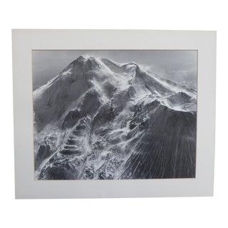 Large Vintage 1959 Mount Shasta Aerial Photograph