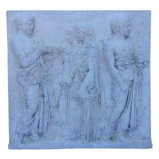Vintage Hollywood Regency Greco-Roman Sculptural Wall Art