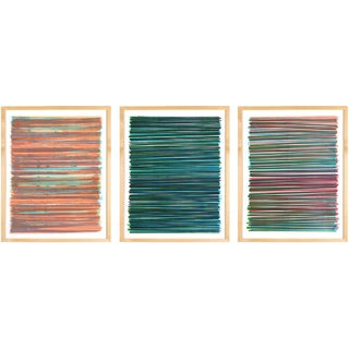 Line Series Monoprint - Triptych No. 11, 10, 14