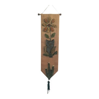 Handmade Burlap Wall Hanging