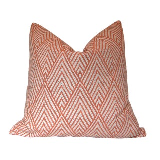 Tahitian Stitch Tangerine Custom Pillow Cover