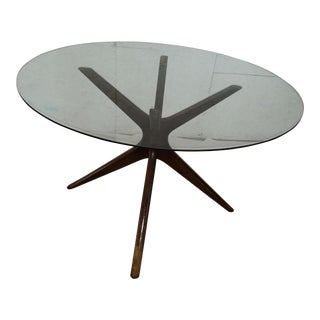 Mid-Century Modern Spider Leg Glass Top Table
