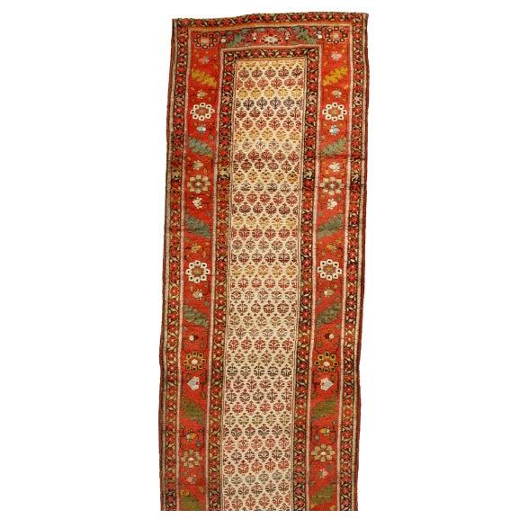 Image of Antique 19th Century Persian Bidjar Runner