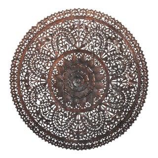 """Dark Wax Carved Medallion Panel 60"""""""
