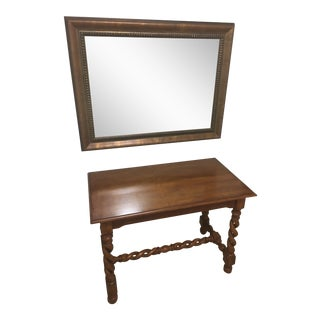 Writing Desk & Mirror - A Pair