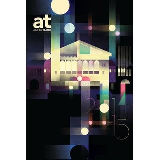 Mads Berg 'Aarhus Teater' Retro Danish Poster