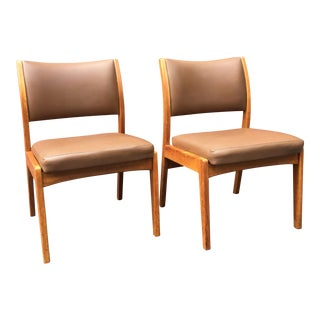 Mid-Century Armless Gunlocke Chairs - A Pair