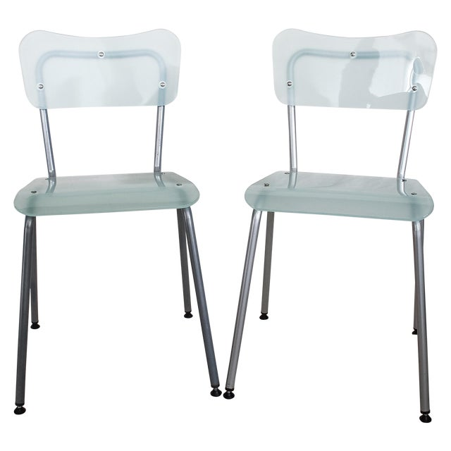 Tim Power for Zeritalia Glass Chip Chairs - A Pair - Image 1 of 10