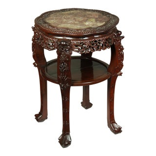 Chinese Table with Marble Top