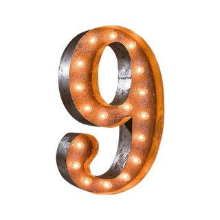 Number 9 Marquee Light