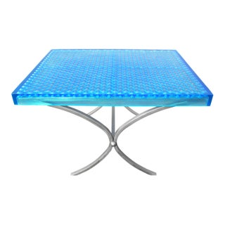 Geometric Modern Beehive Resin Dinning Table