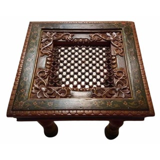 Hand-Painted Intrinsic Carving Side / End Table