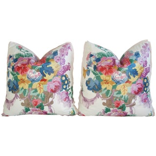 Hazelton House Floral Feather & Down Pillows - Pair