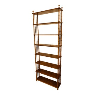 Faux Bamboo Wood Etagere