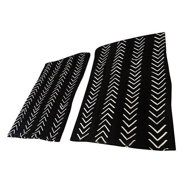 Malian Black & White Mud Cloth Textiles - A Pair - Image 9 of 9
