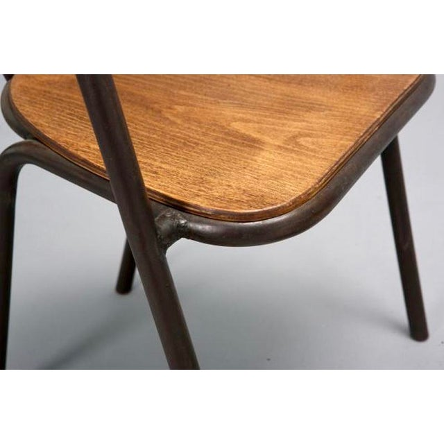 Set of 6 Mid Century Metal & Wood Armchairs - Image 5 of 7