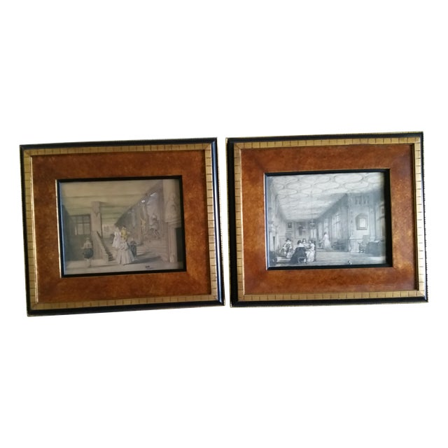 Image of Victorian Interior Knowle Kent Print - Pair