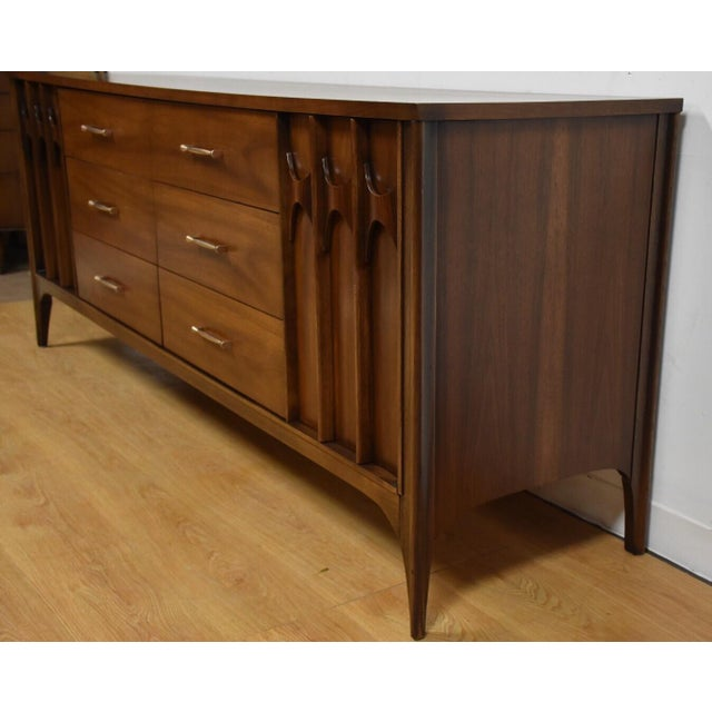 Kent Coffey Perspecta Walnut & Rosewood Dresser - Image 5 of 10