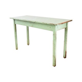 Vintage Antique Green Farmhouse Table