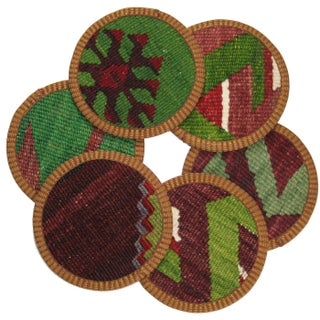 Mercan Kilim Coasters - Set of 6