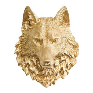 Wall Charmers Wolf in Gold