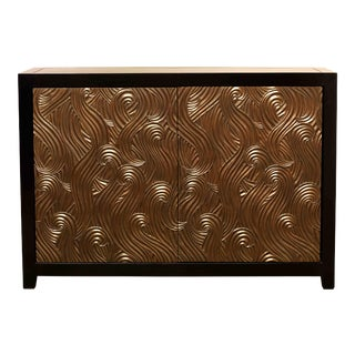 Dragon Swirl Bar Cabinet - Antique Copper