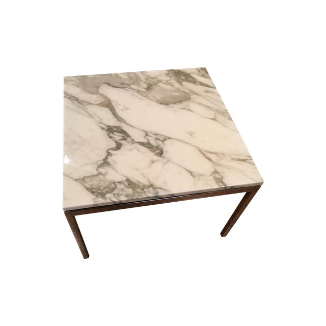 Florence knoll calacatta marble coffee table chairish Florence knoll coffee table