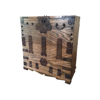 Antique Japanese Solid Oak Tansu
