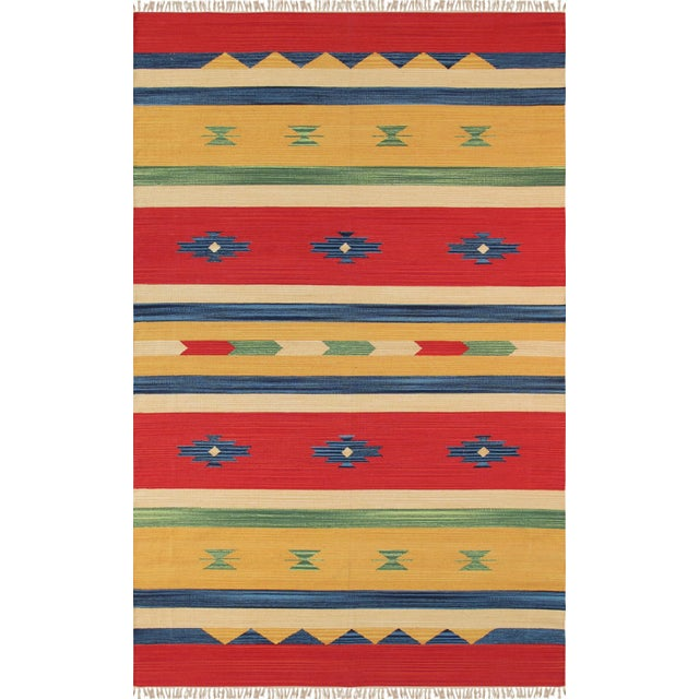 Anatolian Hand-Woven Cotton Rug - 8' X 10' - Image 1 of 4