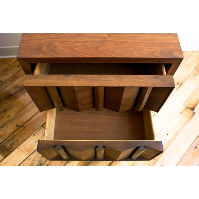 Mid Century Brutalist Paul Evans Styled Nightstands - a Pair - Image 4 of 9