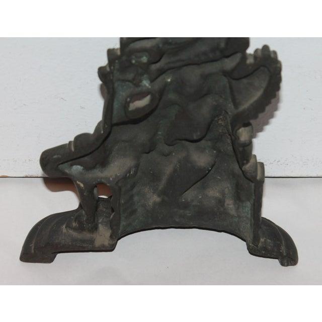 """Image of Late 19th Century Bronze """"Punch"""" Door Stop"""