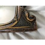 Image of Antique Ebonized Giltwood Mirror