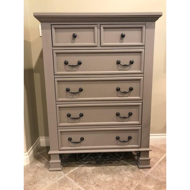 Image of Tall Highboy Wooden Dresser