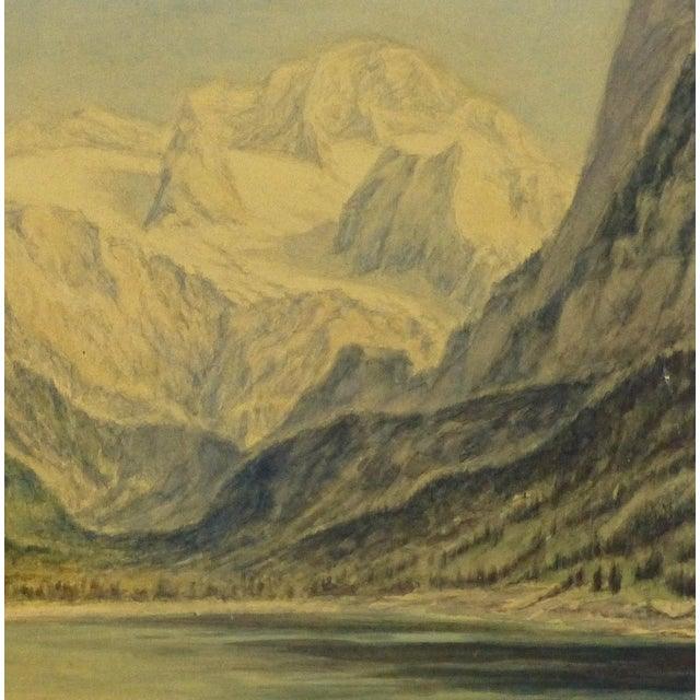Image of 1950 Vintage Original Watercolor, Majesty's Point