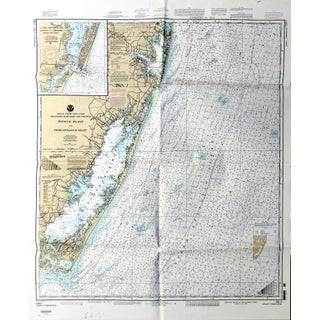 Vintage Fenwick Island-Chincoteague Nautical Map