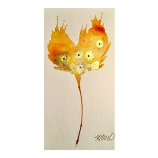 Golden Sunrise Watercolor Painting