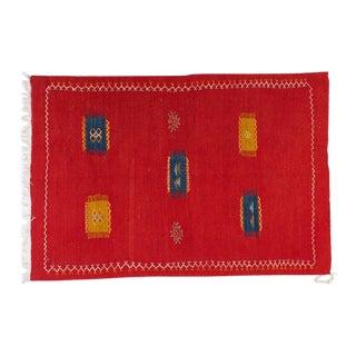 Hand-woven Moroccan Medium Berber Rug - 3′3″ × 4′11″