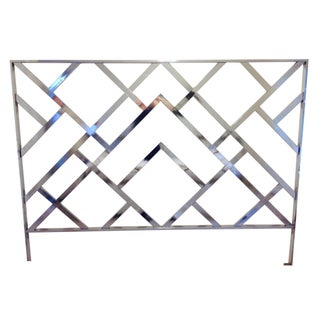 Chrome King Headboard by Milo Baughman for DIA