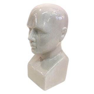 Ceramic White Phrenology Head