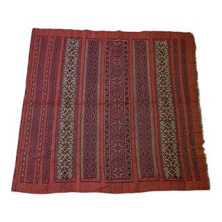"Vintage Turkish Aztec Print Rug - 5'1"" x 5'3"""
