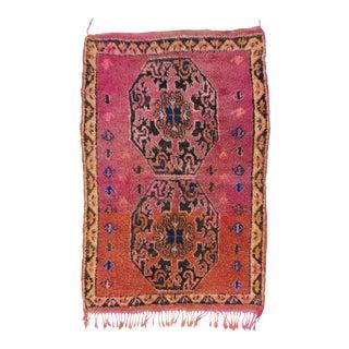 Vintage Moroccan Wool Rug - 3′1″ × 4′9″