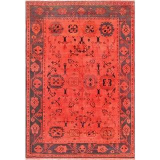 "Pasargad Persian Red Overdye Lamb's Wool Area Rug - 7'7"" X 11'4"""