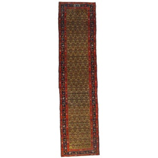 Hamadan Hand Knotted Wool & Cotton Rug - 3′ × 12′4″