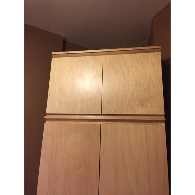 Image of Natural Wood Wardrobe
