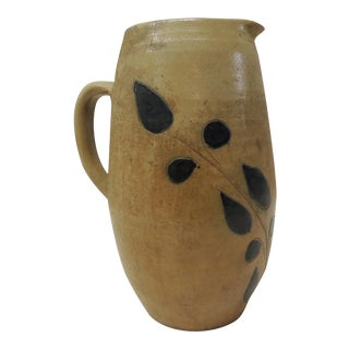 Vintage Glazed Stoneware Pitcher