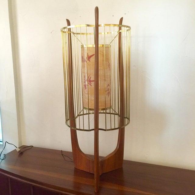 Modaline Sculptural Lamp with Original Shade | Chairish